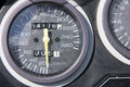 Detail tachometer speedometer at zero mileage indicator Stock Image