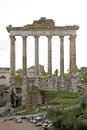 Detail of temple at the fori imperiali in rome unrecognisable italy Royalty Free Stock Photography