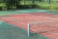 Detail of a tennis court Royalty Free Stock Photo