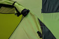 Detail of tent in green color part and shown as outdoor goods and colored pattern Royalty Free Stock Image