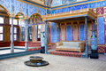 Detail from throne room inside Harem section of Topkapi Palace i Royalty Free Stock Photo