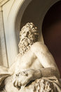 Detail of the tigris river statue close up on face in vatican museum Royalty Free Stock Image