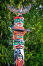 Detail of Totem Pole called `Spirit of transformation`