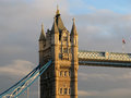 Detail of Tower Bridge in London Royalty Free Stock Photo