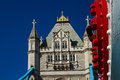 Detail of tower bridge in the spring london on a beautiful day Stock Images