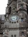 Detail of the tower Roman Catholic church Sv.Al�bety Kosice Slovakia.