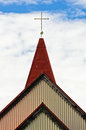 Detail of traditional icelandic wooden church in Grindavik Royalty Free Stock Photo