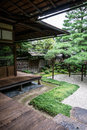 Detail of traditional Japanese garden Royalty Free Stock Photo