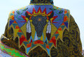 Detail of traditional native american pow wow dress a is a gathering and heritage celebration north america s Stock Photo