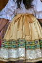 Detail of traditional Slovak folk costume worn by women