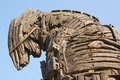 Detail of the trojan horse Royalty Free Stock Photo