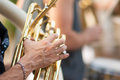 Detail on tuba Royalty Free Stock Photo