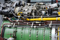 Detail of Turbojet Engine Royalty Free Stock Image