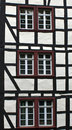 Detail of typical half timbered house in monschau germany the historic town center has many preserved houses and Royalty Free Stock Photography