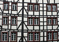 Detail of typical half timbered house in monschau germany the historic town center has many preserved houses and Royalty Free Stock Image