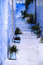 Detail from typical house in Chefchaouen, Morocco Royalty Free Stock Photo