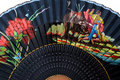 Detail of a typical spanish fan Royalty Free Stock Photo