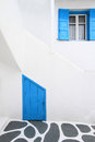 Detail from a typical traditional house in Mykonos Royalty Free Stock Photo