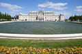 Detail from upper belvedere palace in vienna the was built the th century as the summer residence for the general prince eugene of Royalty Free Stock Photo