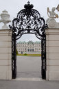 Detail from upper belvedere palace in vienna the was built the th century as the summer residence for the general prince eugene of Stock Photo