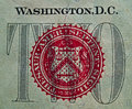 Detail of the US $2.00 Bill 1 Royalty Free Stock Photography