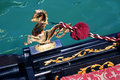Detail van Venetiaanse gondel Stock Foto