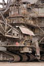 Detail of a very large bucket-wheel excavators Royalty Free Stock Photo