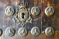 Detail of very old door in Sevilla, Spain Royalty Free Stock Photo