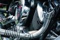Detail of veteran motorbike Royalty Free Stock Photo