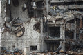 Detail view of donetsk airport ruins Royalty Free Stock Photo