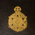 Detail of vintage Jewish Book cover Royalty Free Stock Photo