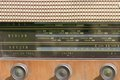 Detail of vintage radio Royalty Free Stock Photo