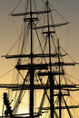 Detail of a vintage sailing ship Royalty Free Stock Photo