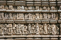 Detail of Vishnavath temple, Khajuraho Royalty Free Stock Image