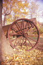 Detail of wagon in autumn at the historical henry wick house morristown park new jersey Stock Images