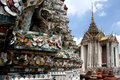 Detail of  Wat Arun temple architecture Royalty Free Stock Photo