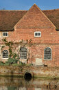 Detail of water mill flatford suffolk Royalty Free Stock Photo