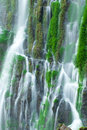 Detail of a waterfall with blurred motion Stock Photo