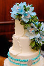 Detail Of Wedding Cake With Bl...