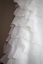 Detail of a wedding dress Royalty Free Stock Image
