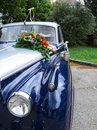 Detail of a wedding oldtimer Royalty Free Stock Photo