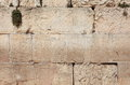 Detail of the Western Wall Limestone Blocks Royalty Free Stock Photo