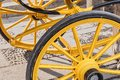 Detail of wheels of typical chariot in Seville Royalty Free Stock Photo