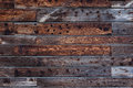 Detail of wood panel wall with patterns in grain Royalty Free Stock Photo