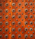 Detail on wooden door Stock Photography