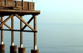 Detail of a wooden stilt house on the seashore big Royalty Free Stock Photography