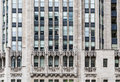 Detail work on old chicago office building a classic stone tower in Royalty Free Stock Photography
