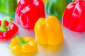 Detail Yellow, Red, Green Bell Pepper Royalty Free Stock Photo