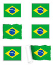 Brazil flag set Royalty Free Stock Photo