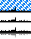 Detailed and accurate illustration of silhouette of regensburg bavaria Royalty Free Stock Image
